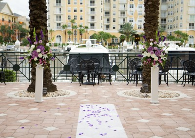 Best Tampa Wedding Florist Northside Florist - Purple Wedding Ceremony Flowers