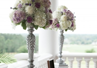 Best Tampa Wedding Florist - Northside Florist - Tall Purple Wedding Ceremony Flowers
