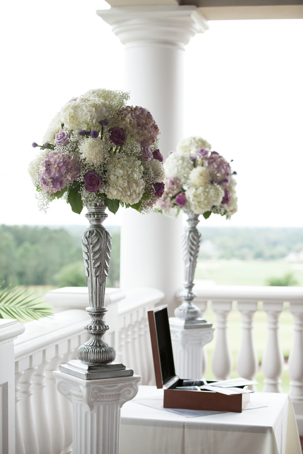 best tampa wedding florist northside florist tall purple wedding ceremony flowers