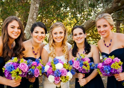 Best Tampa Wedding Florist - Northside Florist Pink and Purple Wedding Bouquets
