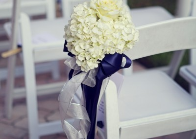 White Wedding Ceremony Aisle Chair Decor Flowers