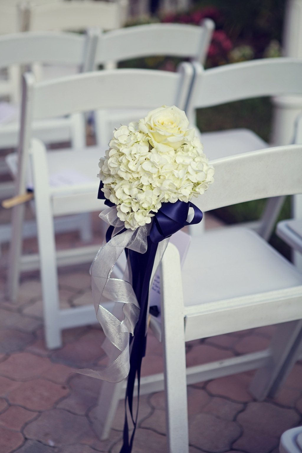Wedding ceremony chair - White Wedding Ceremony Aisle Chair Decor Flowers