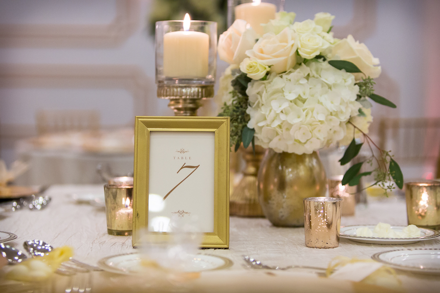 Ivory and gold wedding reception table decor with white flowers ivory and gold wedding reception table decor with white flowers tampa wedding floral designer northside junglespirit