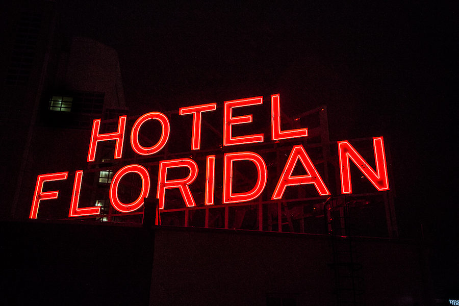 Hotel Floridan Sign Downtown Tampa