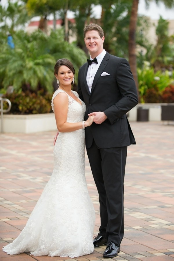 Tampa Bride and Groom Wedding Portrait